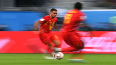 Eden Hazard Romelu Lukaku France Belgium