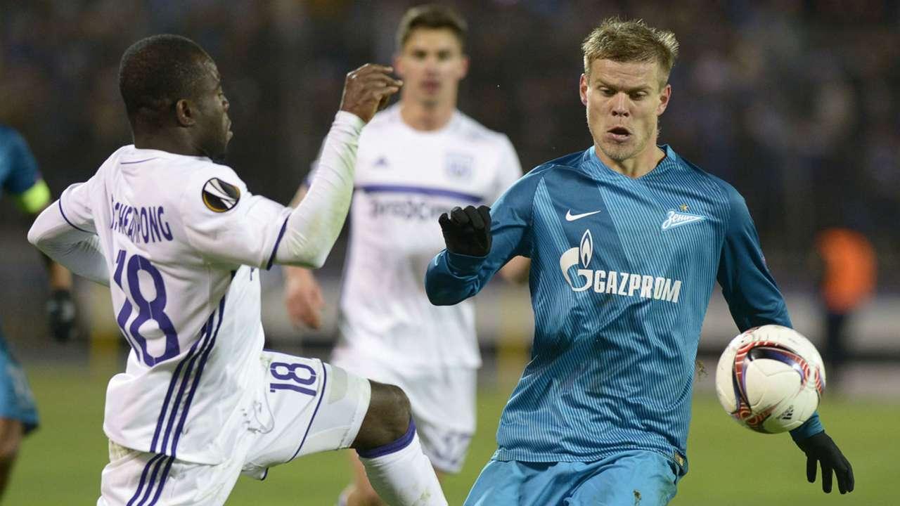Frank Acheampong, Aleksandr Kokorin - Zenit, Anderlecht 23022017