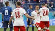 Poland celebrate Karol Linetty goal vs Slovakia, Euro 2020