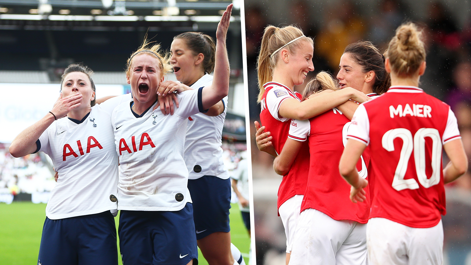 Record crowd sees Arsenal beat Spurs 2-0 in WSL derby
