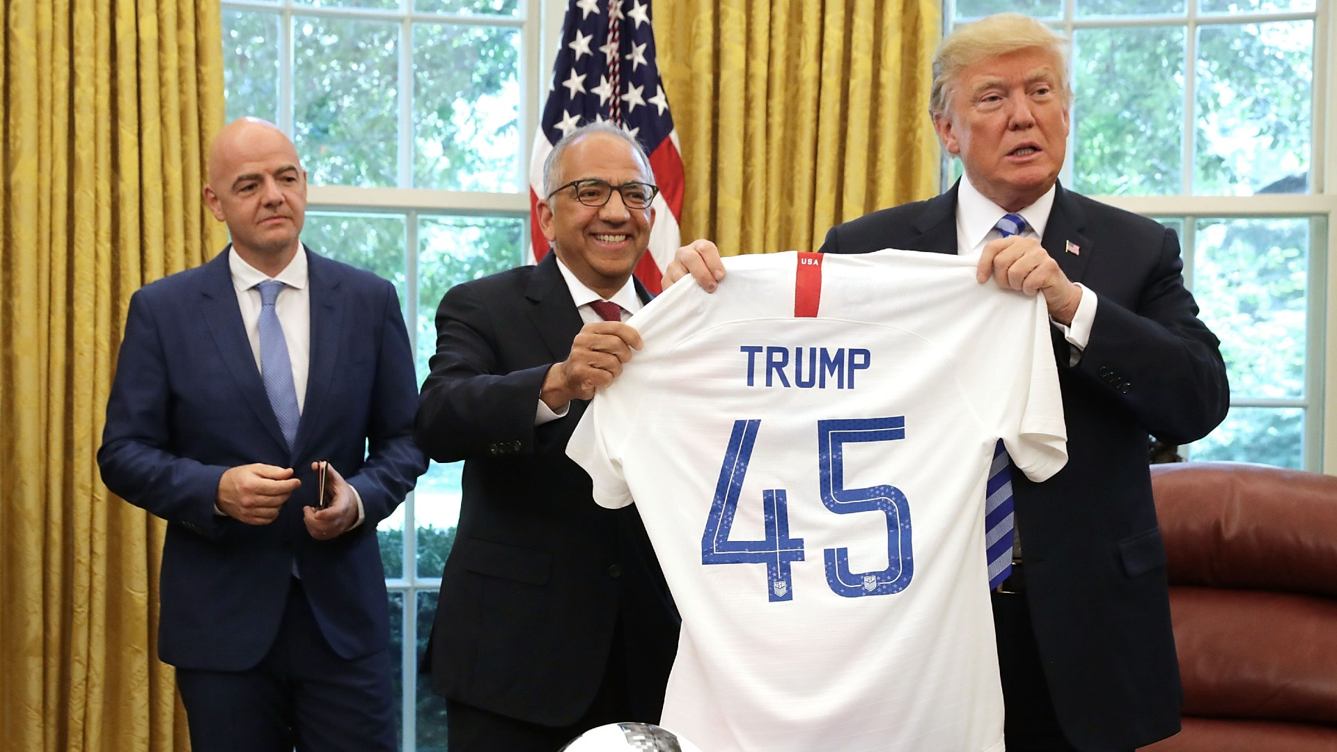 Trump threatens to stop watching National Football League  if soccer players kneel during Anthem