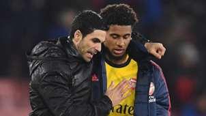 Mikel Arteta Reiss Nelson Arsenal 2019-20