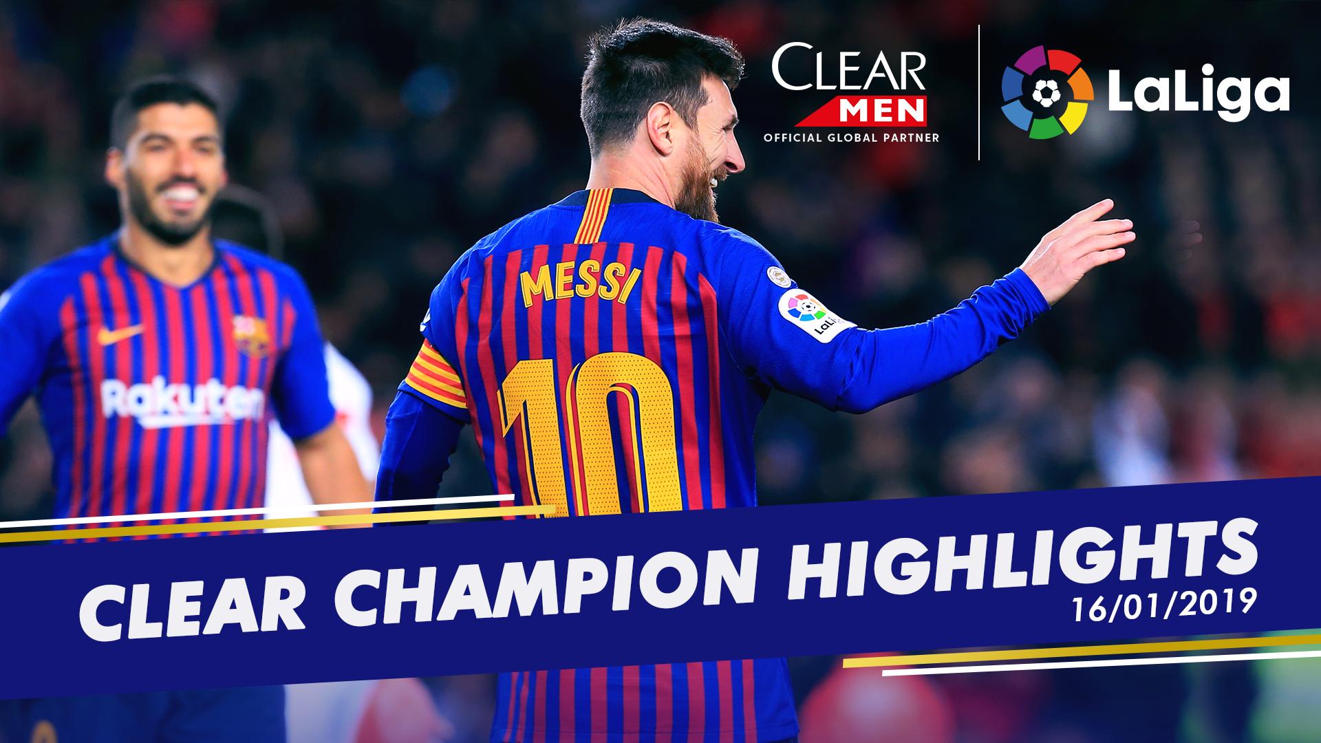 Clear Men La Liga 16012019