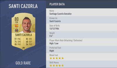 Santi Cazorla | FIFA 19