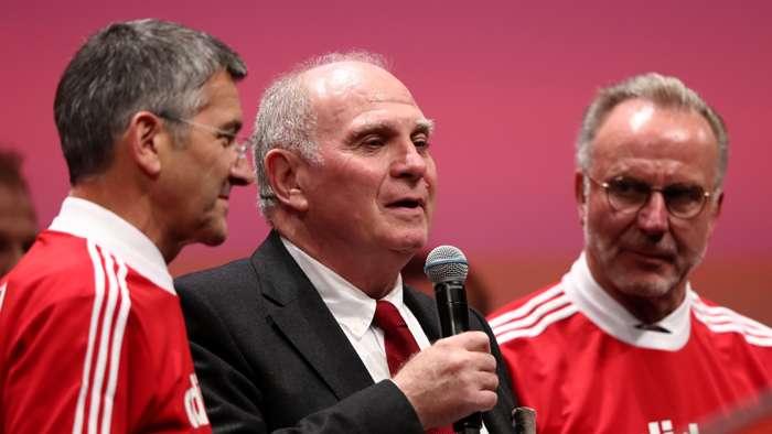 Herbert Hainer Uli Hoeness Karl-Heinz Rummenigge Bayern Munich
