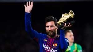 Lionel Messi Bota de Oro Barcelona Deportivo LaLiga 17122017