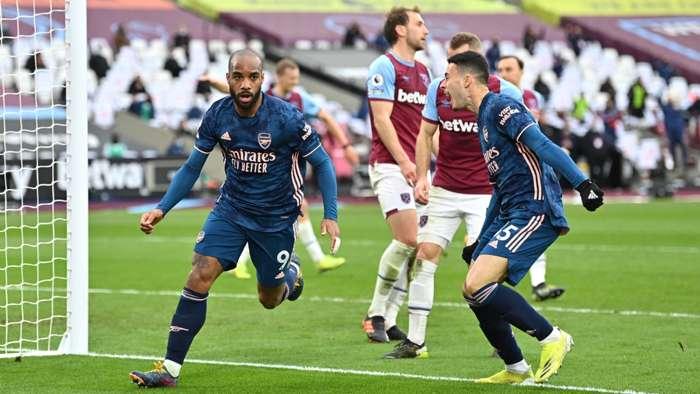 Alexandre Lacazette Arsenal West Ham 2021