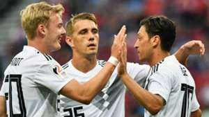 Julian Brandt Nils Petersen Mesut Ozil Germany 2017-18