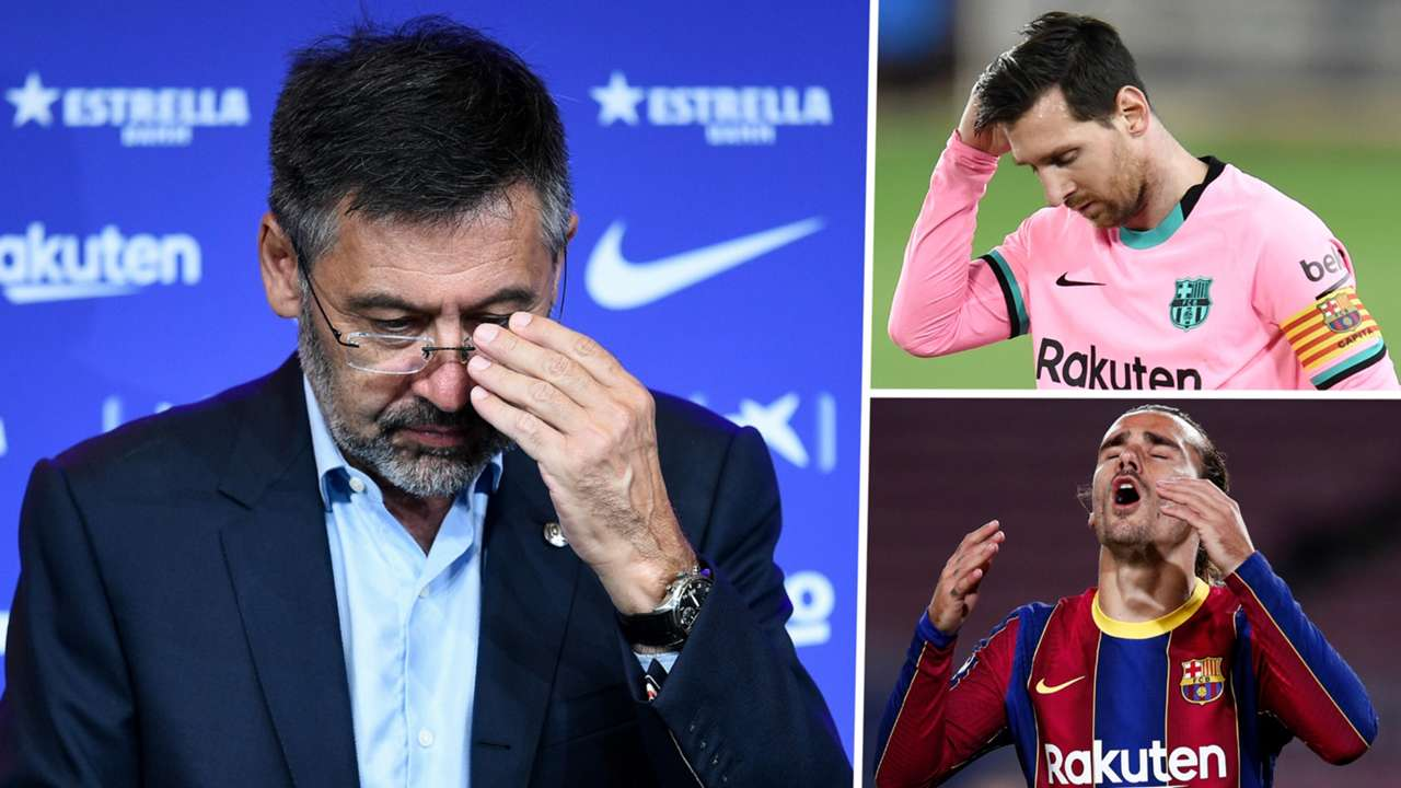 Josep Maria Bartomeu Lionel Messi Antoine Griezmann Barcelona 2020-21 GFX