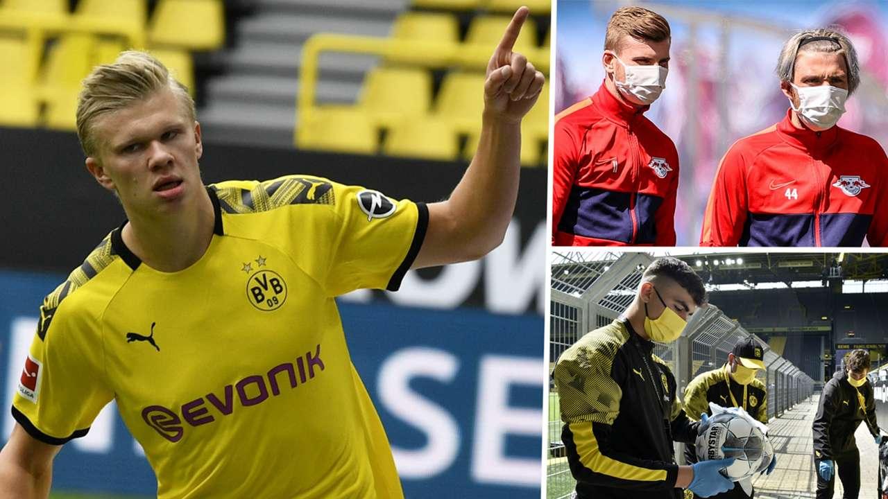 Erling Haaland Timo Werner Kevin Kampl Dortmund RB Leipzig Ballboy Bundesliga