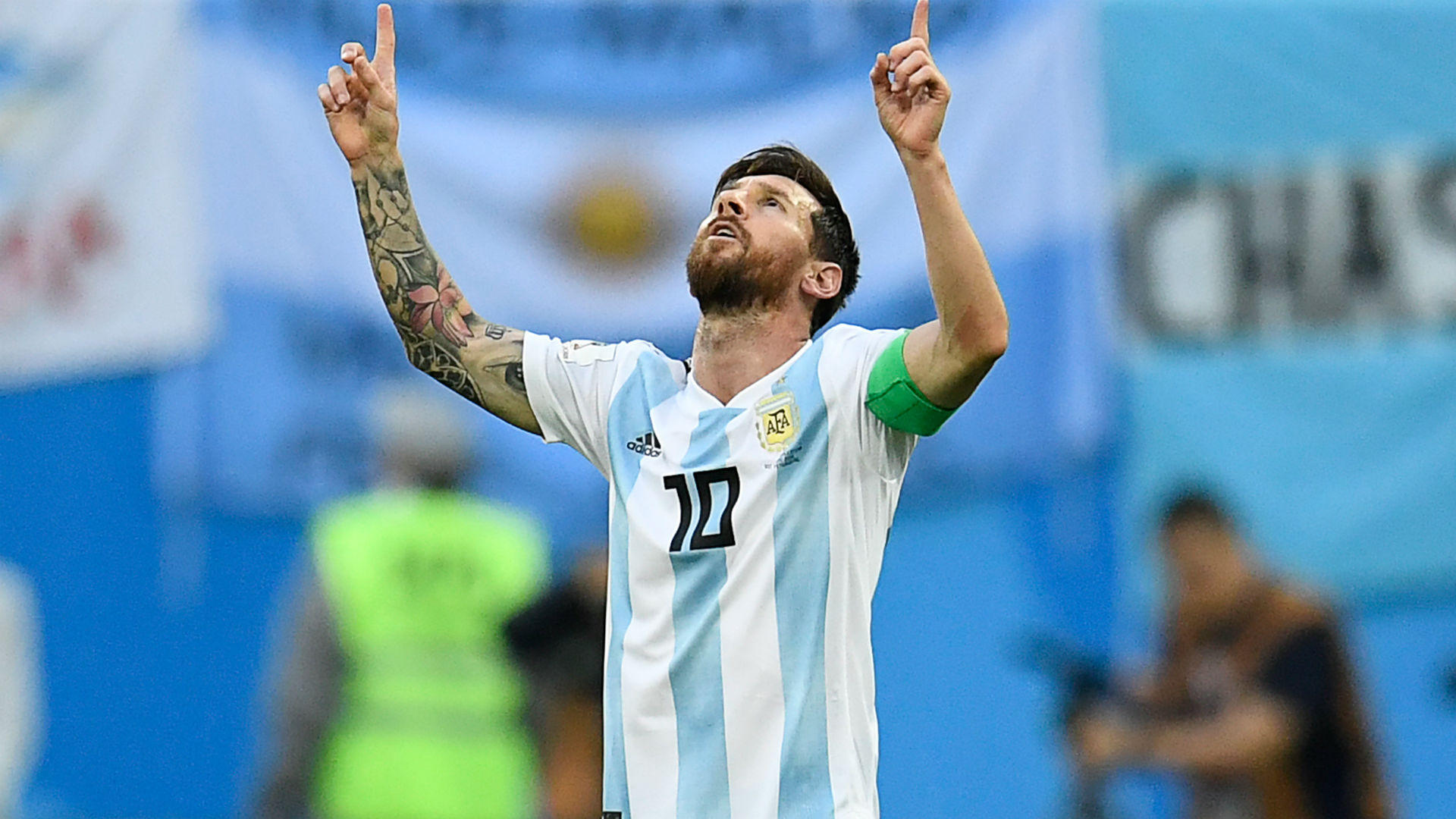 Lionel Messi S Red Ribbon Argentina Star Shocks World Cup