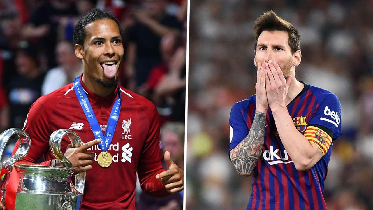 Virgil van Dijk Lionel Messi Liverpool