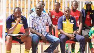 Vihiga United bench with Edward Manoah
