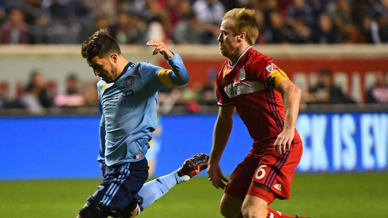 David Villa Dax McCarty New York City FC Chicago Fire MLS