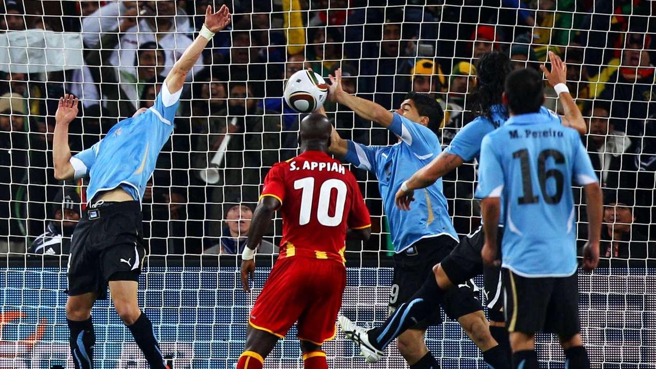 Luis Suarez Uruguay Ghana