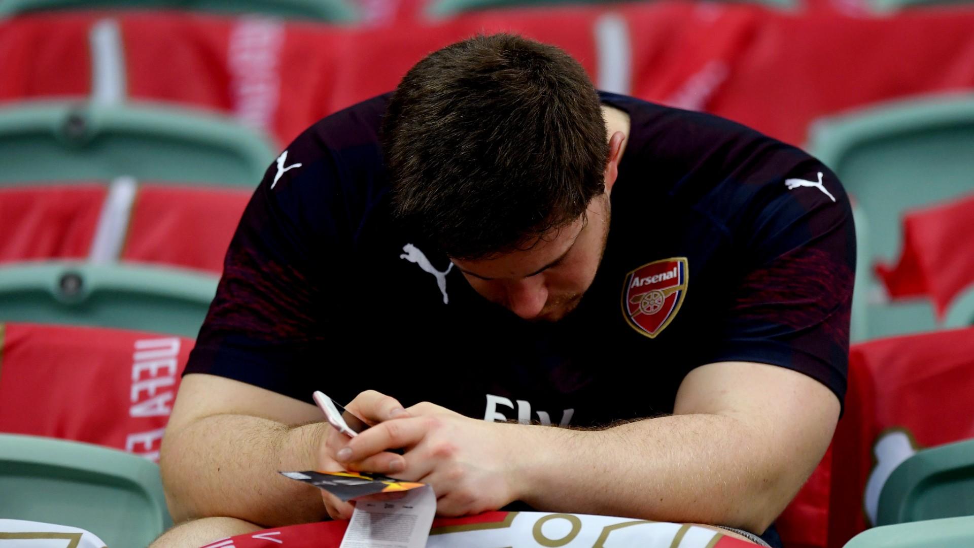 An unhappy Arsenal fan