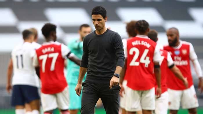 Arteta Arsenal Spurs 2020