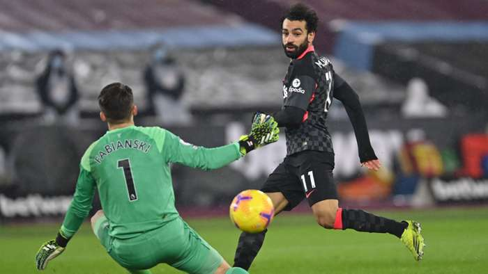 Mohamed Salah West Ham vs Liverpool Premier League 2020-21