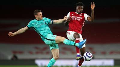 James Milner Thomas Partey Arsenal vs Liverpool Premier League 2020-21