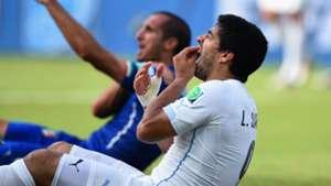 Luis Suarez Giorgio Chiellini 2014 World Cup