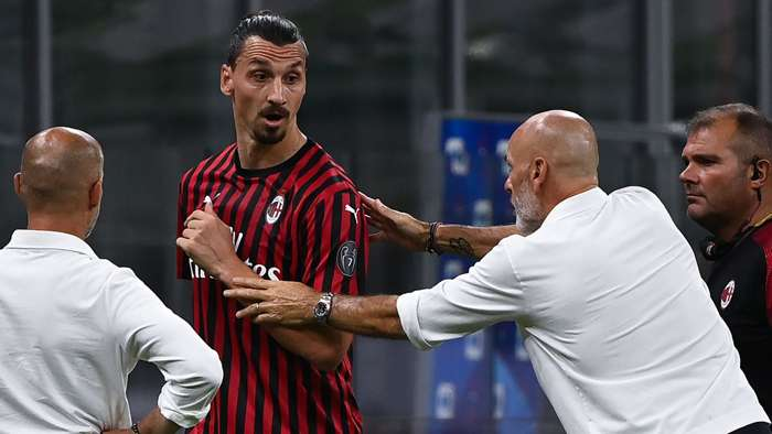 Zlatan Ibrahimovic Stefano Pioli AC Milan 2019-20