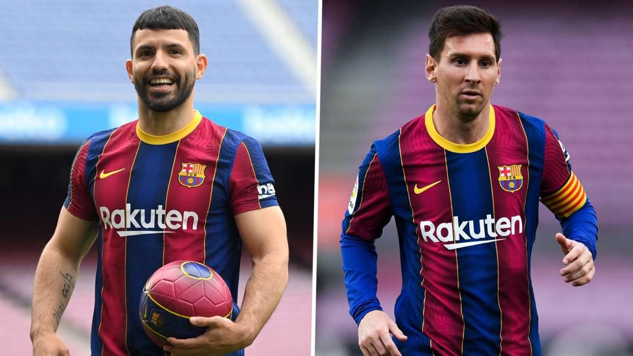 Lionel Messi Sergio Aguero Barcelona GFX
