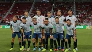 Selección argentina homenaje Tata Brown Argentina Chile Amistoso 05092019