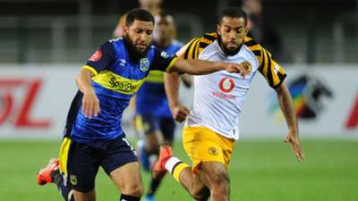 Riyaad Norodien of Cape Town City takes on Reeve Frosler of Kaizer Chiefs, August 2019