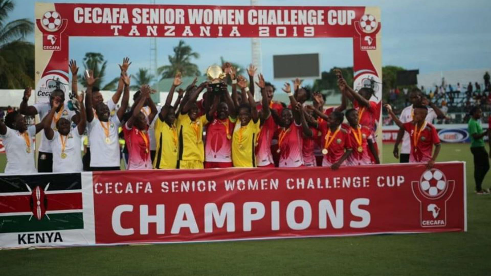 Image result for Images of Tanzania vs Kenya CECAFA CUP WOMEN YESTERDAY