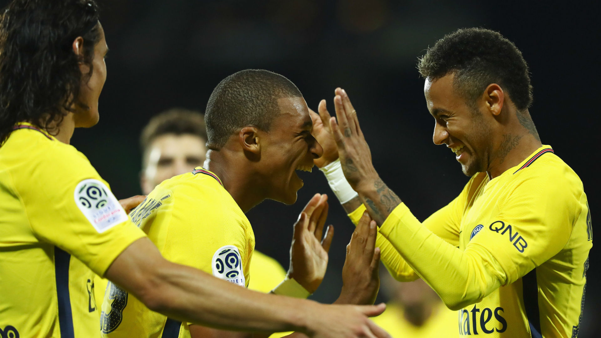 Kylian Mbappe Neymar Metz PSG Ligue 1 08092017