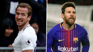 Harry Kane Lionel Messi composite