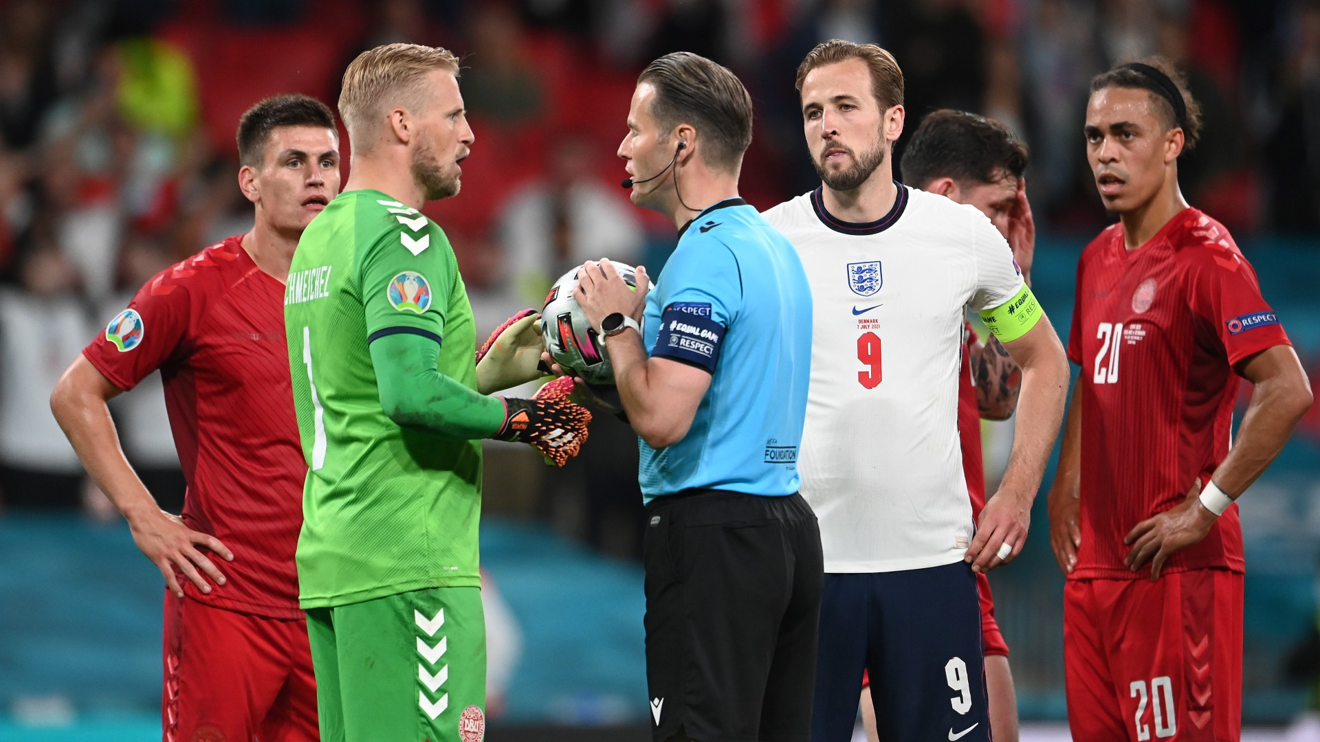 England charged over 'laser pointer' shone at Schmeichel in Euro 2020 semi-final win over Denmark