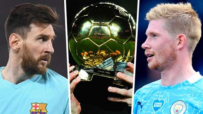 Lionel Messi Kevin De Bruyne Ballon d'Or