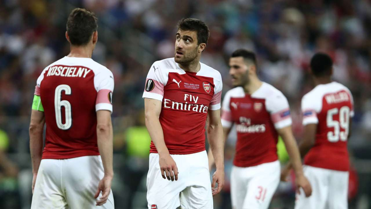 Sokratis Laurent Koscielny Arsenal Chelsea Europa League final 2019