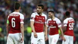Sokratis Laurent Koscielny Arsenal Chelsea Europa League final 2019