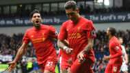 HD Roberto Firmino Emre Can Liverpool celebrates