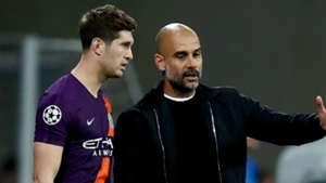 Pep Guardiola John Stones Manchester City 2018-19