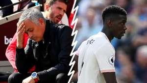 Jose Mourinho v Paul Pogba Man Utd