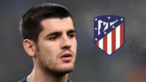 Alvaro Morata, Atletico Madrid logo