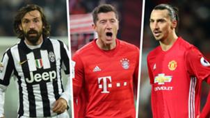 Best free transfers Pirlo Lewandowski Ibrahimovic