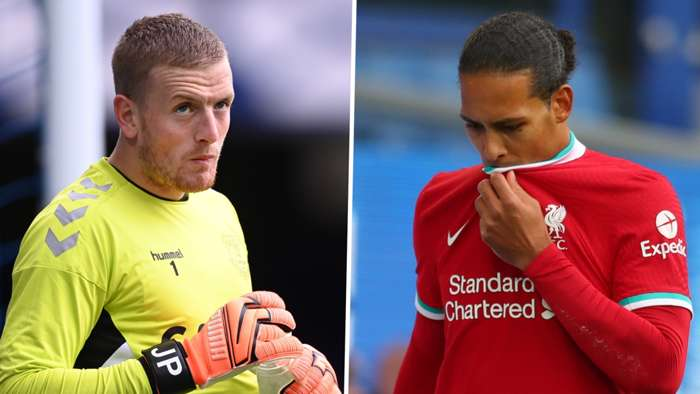 Jordan Pickford, Virgil van Dijk split