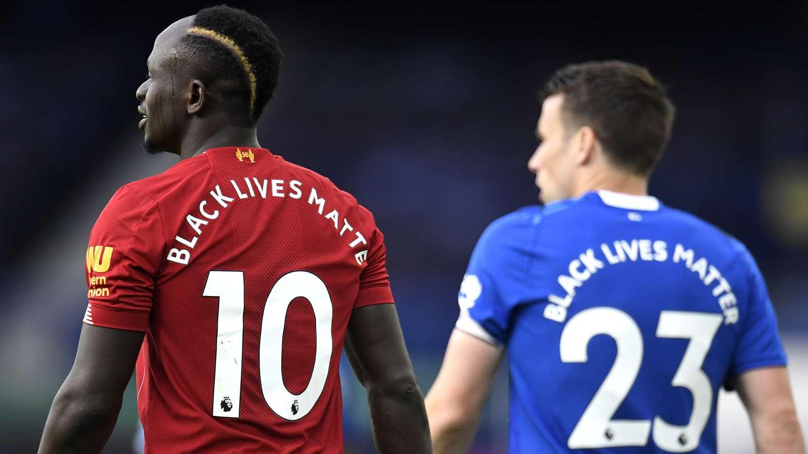 Sadio Mane Liverpool Seamus Coleman Everton 2019-20 Black Lives Matter