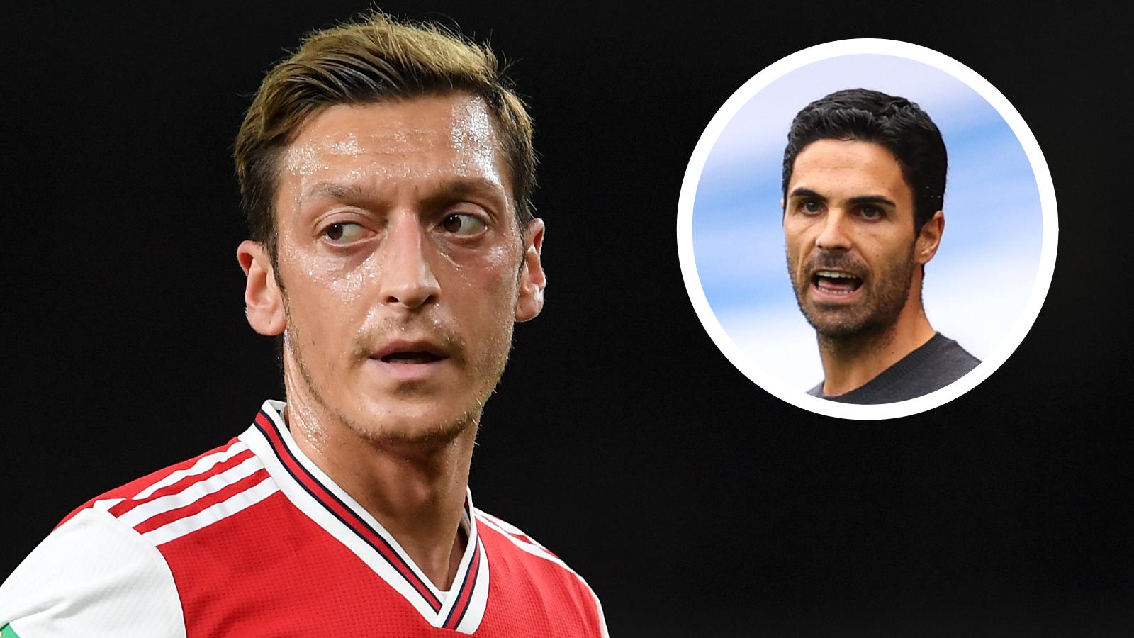 Arsenal's January transfer dealings hold key to Ozil's future, says Arteta