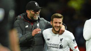 Jurgen Klopp Adam Lallana Liverpool 2019-20