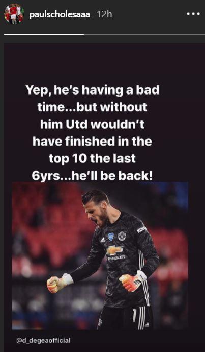 'De Gea will be back!' - Scholes defends Man Utd goalkeeper after FA Cup semi-final horror show