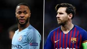 Raheem Sterling Lionel Messi Manchester City Barcelona