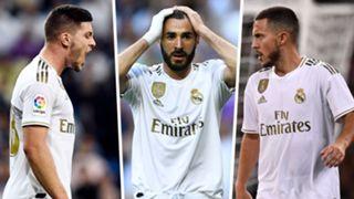 Luka Jovic Karim Benzema Eden Hazard Real Madrid