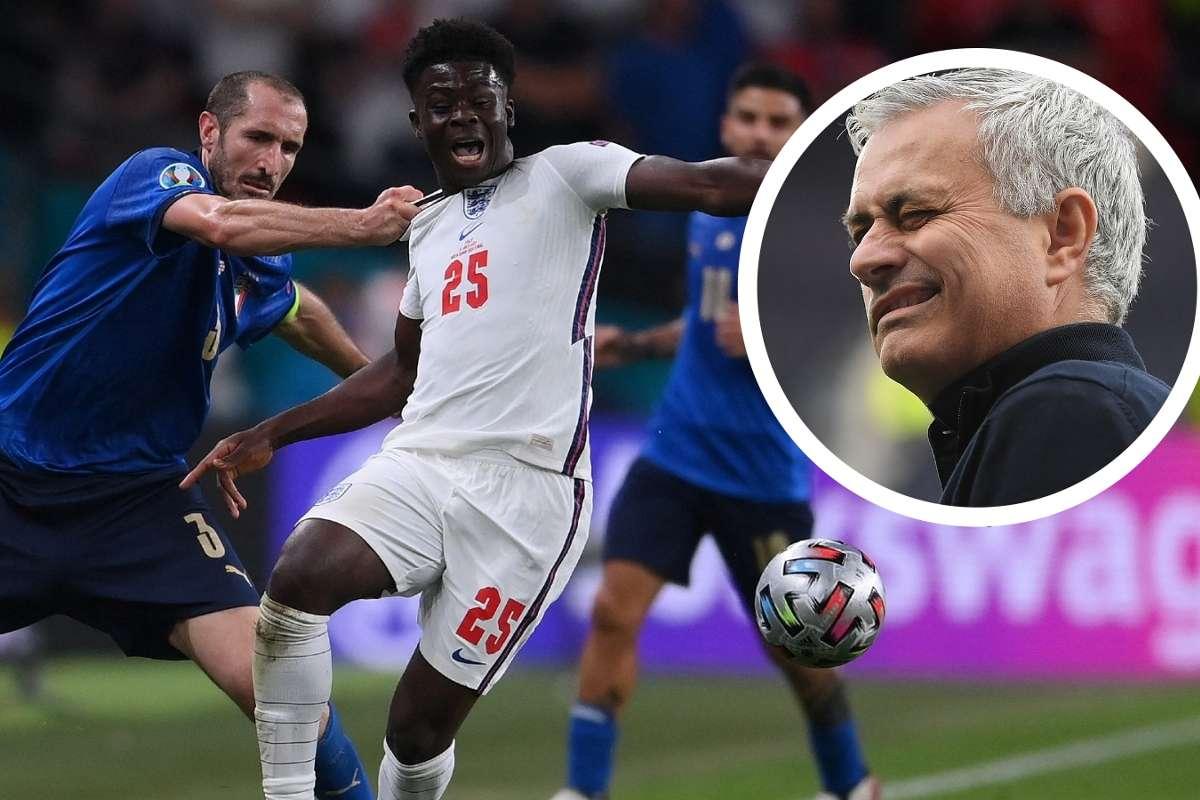 Bek Top!' - Jose Mourinho Puji Aksi Giorgio Chiellini Tarik Baju Bukayo  Saka | Goal.com