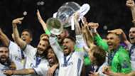 Real Madrid celebrating Champions League