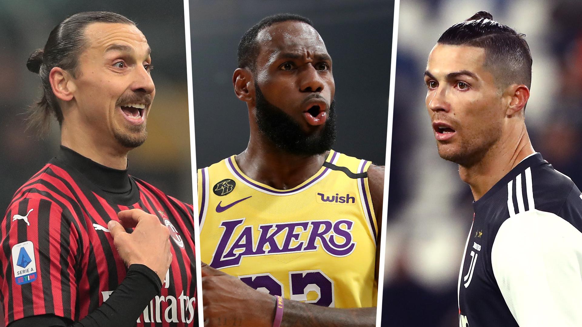 LeBron James nombra a sus jugadores de fútbol favoritos, incluidos Ronaldo y 'loco' Zlatan 1